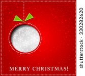 merry christmas paper greeting... | Shutterstock . vector #330282620