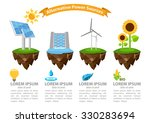 infographic alternative power... | Shutterstock .eps vector #330283694