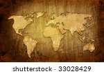 world map vintage artwork | Shutterstock . vector #33028429