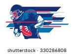 american football player 6 | Shutterstock .eps vector #330286808