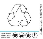 recycle sign isolated  line... | Shutterstock .eps vector #330292220