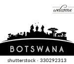 botswana skyline silhouette ... | Shutterstock .eps vector #330292313