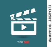 clapper board  icon. one of set ... | Shutterstock .eps vector #330296678