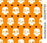 seamless halloween pattern with ... | Shutterstock .eps vector #330299750