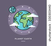 planet earth seen from space ... | Shutterstock .eps vector #330303440