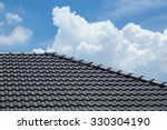 black tile roof of construction ...