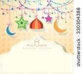 islamic greeting background for ... | Shutterstock .eps vector #330304388