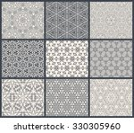 vintage seamless background set ... | Shutterstock . vector #330305960