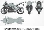 front  top  back and side... | Shutterstock .eps vector #330307508