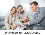 financial adviser showing terms ... | Shutterstock . vector #330309389