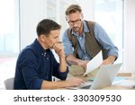 businessmen in office working... | Shutterstock . vector #330309530