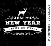 christmas and new year greeting ... | Shutterstock .eps vector #330321026