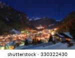 Winter Landscape Of Village In...