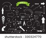 doodle set of arrows. hand... | Shutterstock .eps vector #330324770