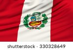 peru flag. 3d illustration | Shutterstock . vector #330328649