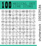 100 line icons  medical set. | Shutterstock .eps vector #330329186