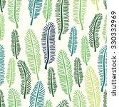 palm tree leaf seamless pattern ... | Shutterstock .eps vector #330332969