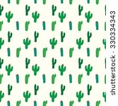 Cactus Seamless Pattern Vector...