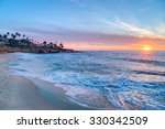 magnificent sunset on the beach ... | Shutterstock . vector #330342509