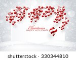 christmas decorations on white... | Shutterstock .eps vector #330344810