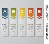 design clean number banners... | Shutterstock .eps vector #330347909