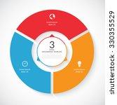 vector infographic circle.... | Shutterstock .eps vector #330355529