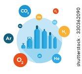gas bottles vector illustration | Shutterstock .eps vector #330362090