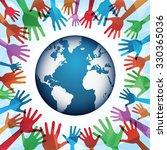 world peace | Shutterstock .eps vector #330365036