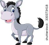 cute baby donkey posing