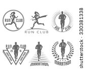 run club labels and emblems | Shutterstock .eps vector #330381338
