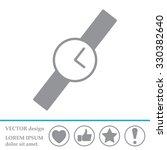 wristwatch vector icon   Shutterstock .eps vector #330382640