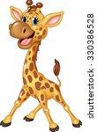 cute giraffe cartoon isolated... | Shutterstock .eps vector #330386528