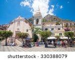 taormina  sicily   may 29  2015 ... | Shutterstock . vector #330388079