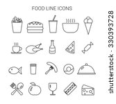food line icons set.  icons for ... | Shutterstock .eps vector #330393728