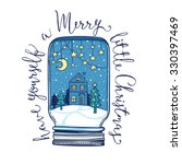 hand drawn fairy christmas... | Shutterstock .eps vector #330397469