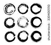vector hand drawn circles.... | Shutterstock .eps vector #330400550
