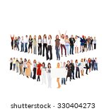 team over white office culture  | Shutterstock . vector #330404273