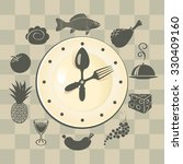 banner with a clock and... | Shutterstock .eps vector #330409160