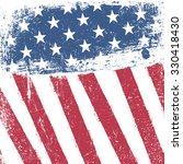 american patriotic grunge... | Shutterstock .eps vector #330418430