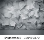 abstract white polygon wall... | Shutterstock . vector #330419870