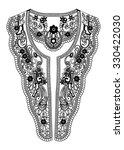 neckline lace in vector | Shutterstock .eps vector #330422030