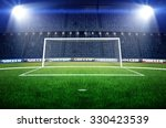 stadium soccer goal or football ... | Shutterstock . vector #330423539