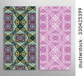 vertical seamless floral...   Shutterstock .eps vector #330425399