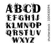 vector alphabet with butterfly | Shutterstock .eps vector #330430094