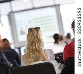 speaker giving presentation in...   Shutterstock . vector #330431393