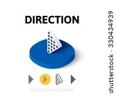 direction icon  vector symbol...