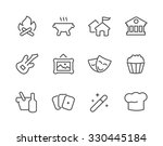 simple set of events related... | Shutterstock .eps vector #330445184