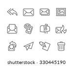 simple set of mail related... | Shutterstock .eps vector #330445190