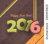 colorful background of 2016... | Shutterstock .eps vector #330445823