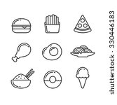 Fast Food Line Icons....